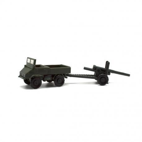 Mercedes Unimog con cañón