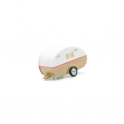 Remolque caravana bicolor