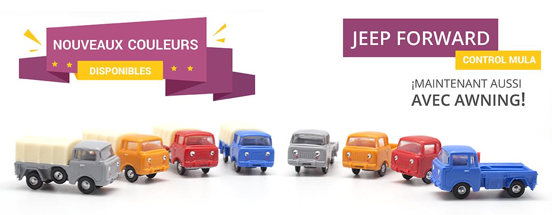 Nouvelles couleurs Jeep Forward Control Mula