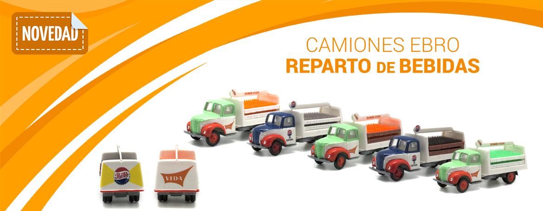 Camiones Ebro reparto de bebidas