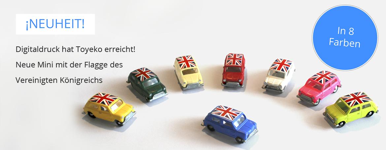 Mini mit der Flagge des Vereinigten Königreichs