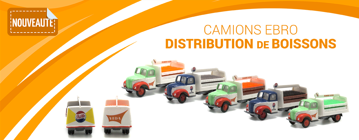 Camion Ebro distribution de boissons